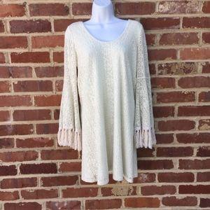 Vava by Joy Han Dress Size Small Lace Fringe Boho